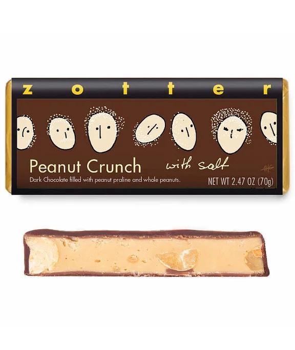 Peanut Crunch with Salt bar by Zotter