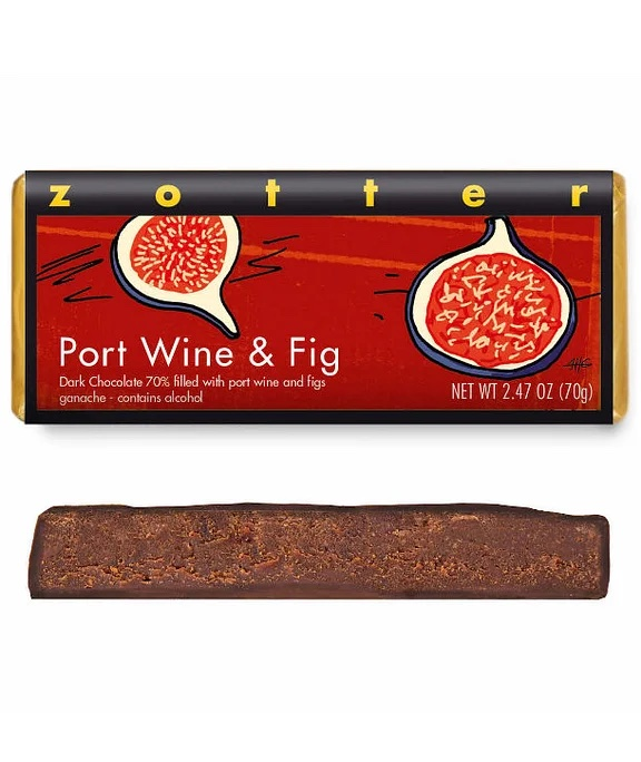 Port Wine & Figs Bar by Zotter
