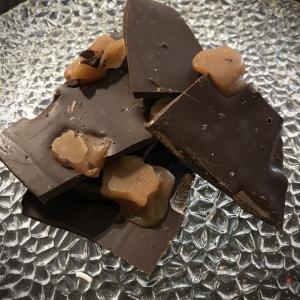 Dark Chocolate Sea Salt Caramel Bark