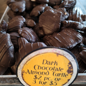 Dark Chocolate Almond Turtle