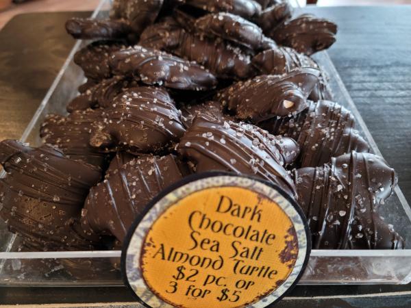 Dark Chocolate Sea Salt Almond Turtle