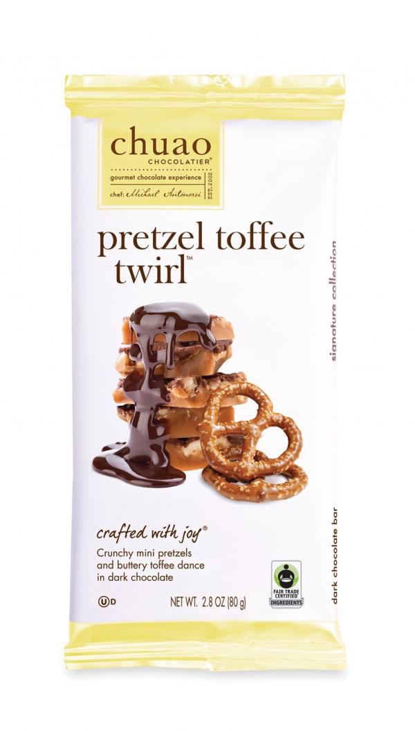 Pretzel toffee twirl by Chuao