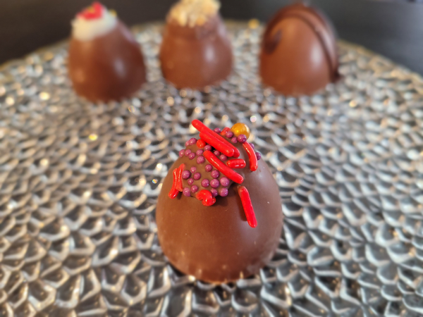 Peanut Butter and Jelly Truffle